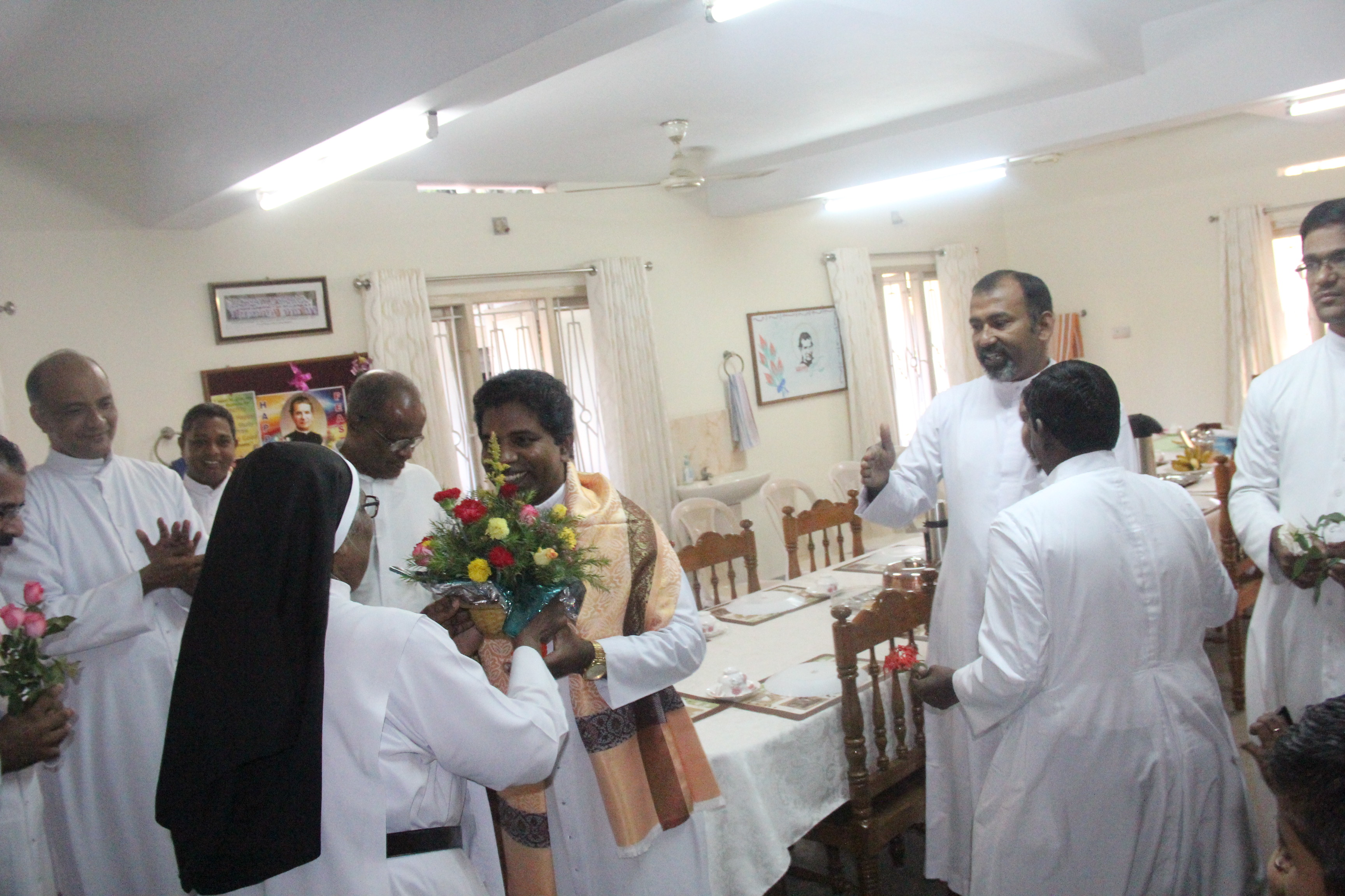 Rt. Rev. George Rajendran Sdb Lights Lamps And Inaugurated The Golden Jubilee Celebrations